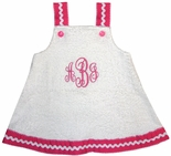 Girls Monogrammed Swimsuit Coverup, Personalized Minnie Mouse Swim Cover