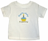 Boy's 1st Birthday Cupcake Happy Birthday Monogrammed Shirt.