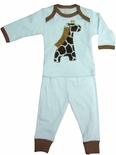 Boy's Pajamas Blue Jungle Animals by Haute Baby