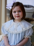 Heirloom Flower Girl, Special Occasion Ribbon And Lace Collar Dress.