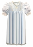 Heirloom Dress with Embroidered Bow Bodice, Sleeve French Lace Inserts, French Lace trim and Satin Ribbon