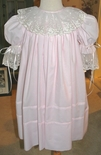 Heirloom Pink Dress with French Lace for Portraits, holidays, Flower Girls and Special Occasions