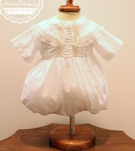 Heirloom Thomas Bubble for Boys in <b>White with Ecru</b> and Ruching