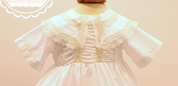 Heirloom Thomas Bubble for Boys in White with Ecru and Ruching