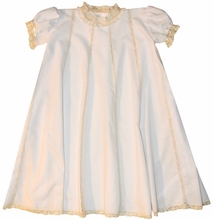 Peppermint Pony Heirloom Baby Girl's Mary Claire Dress with Vertical Lace Inserts