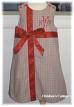 Custom Holiday Gingham Present Dress or Set