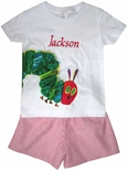 Boy's Hungry Caterpillar Custom Outfit with Shirt & Shorts or Pants