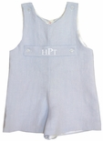 Baby Boy's Personalized John John in Blue Linen by Jack & Teddy