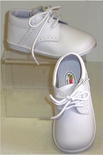 Baby Boy's Girl's White Leather Shoes High Tops