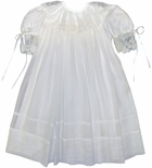 Heirloom Flower Girl Dress in Ivory Ecru by La Jenns