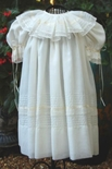 Heirloom Flower Girl Dress in Ivory Ribbon and Lace by La Jenns