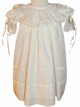Heirloom Flower Girl Dress in Ivory for Easter, Portraits by La Jenns