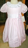 Le' Za Me Girl's Sash Float Dress in Light Pink with Round Collar