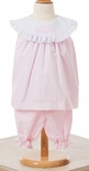 Le' Za Me Monogrammable Collar Bloomers Set in Light Pink