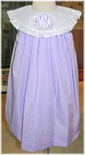 Le' Za Me Monogrammable Lavender Float Dress with Round Collar
