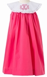 Le' Za Me Monogrammable Pagoda Pink Float Dress with Round Collar