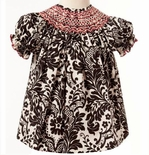 Le' Za Me Smocked Black and Red Dress