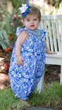 "Le' Za Me Smocked Bubble for Girls in ""Periwinkle Lace"""