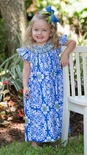 "Le' Za Me Smocked Dress in ""Periwinkle Lace"""