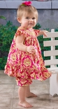 Le' Za Me Smocked Hot Pink Damask Bloomers Set