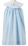 Le' Za Me Monogrammable Light Blue Float Dress with Round Collar