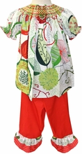 "Le' Za Me Smocked Christmas ""Merry Mums"" Pants Set"
