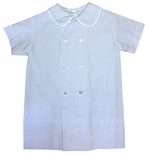 Lullaby Set Blue Windowpane Boy's Day Gown