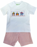 Maria Elena Smocked Boy's Circus Shirt and Shorts