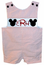 Custom Monogrammed Mickey Mouse Disney Boy's John John or Longall