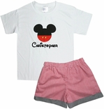 Custom Mickey Mouse Disney Outfit.
