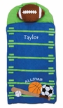 Monogrammable Sports, Football Nap Mat or Sleeping Bag for Boys