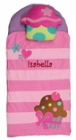 Monogrammable Cupcake Nap Mat for Toddlers Girls Perfect for Birthdays, Day Care Preschool and Kindergarten