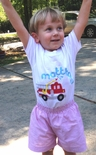 Monogrammed Boy's Fire Engine John John or Shorts Outfit