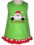 Monogrammed Christmas Santa Dress or Swing Top & Pants