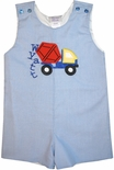 Boy's Monogrammed Outfit with Cement Truck-Mixer