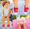New!<br>Girl's Monogrammable Mary Jane Bow Tie Canvas Shoes