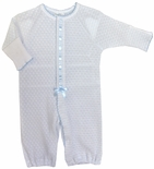 Paty Inc. Blue and White Infant Convertible Gown and Romper