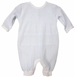 Baby Boy's Romper in  Blue Stripe Knit by Paty, Inc.