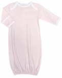 Paty Inc. Monogrammable Baby Girl's Pink with White Trim Lap Shoulder Gown