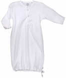Baby White Layette Gown With White Satin Ribbon By Paty, Inc.