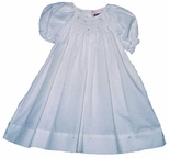Girl's Smocked Dress Day Gown In Pastel Colors By Petit Ami