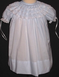 Girl's Heirloom Dress, Pleated Collar Light Blue, Portraits, Special Occasions