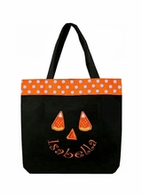 Monogrammed Personalized Halloween Trick Treat Goody Bag