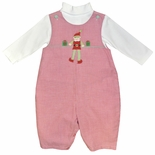 Petit Ami Boy's Red Gingham Elf Longall