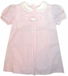 Petit Ami Easter Bunny Interchangable Tab Monogrammed Dress