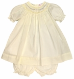 Baby Girl Yellow or Pink Dress and Bloomers by Petit Ami.