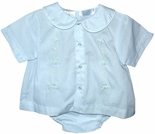 Boy's Blue Romper And Hat by Petit Ami
