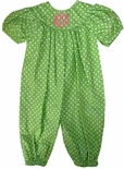 Girl's Green with White Dots Long Bubble by Petit Ami