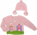 Pink Princess Sweater for Baby Girls, Toddler Girls by Petit Ami