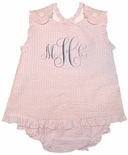 Petit Ami Personalized Baby Girl Criss Cross Top and Bloomers